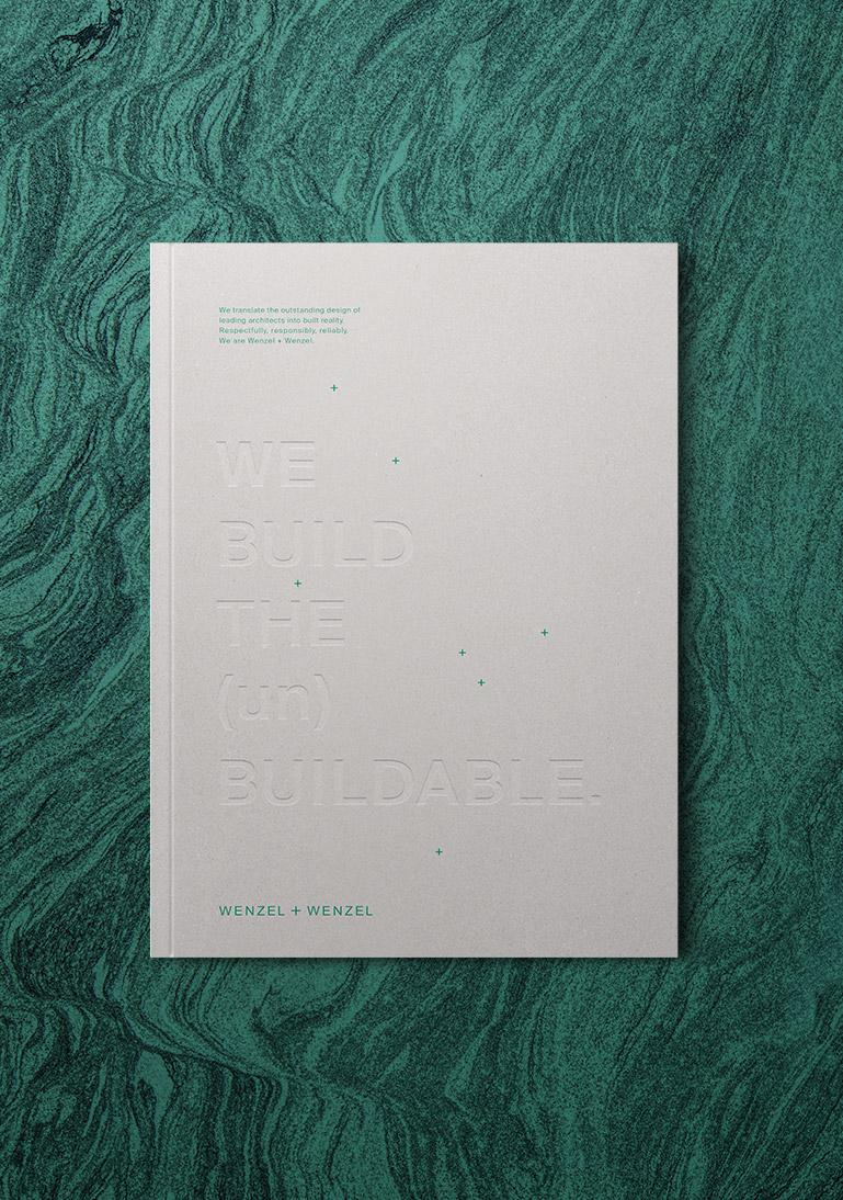 Wenzel + Wenzel, Architekten, Broschüre, Magazin, Prägung