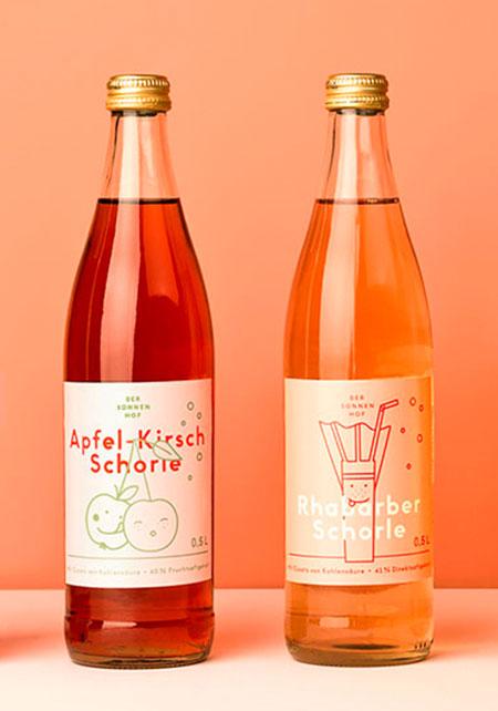 Verpackung, Saft, Glasflasche, Verpackungsdesign