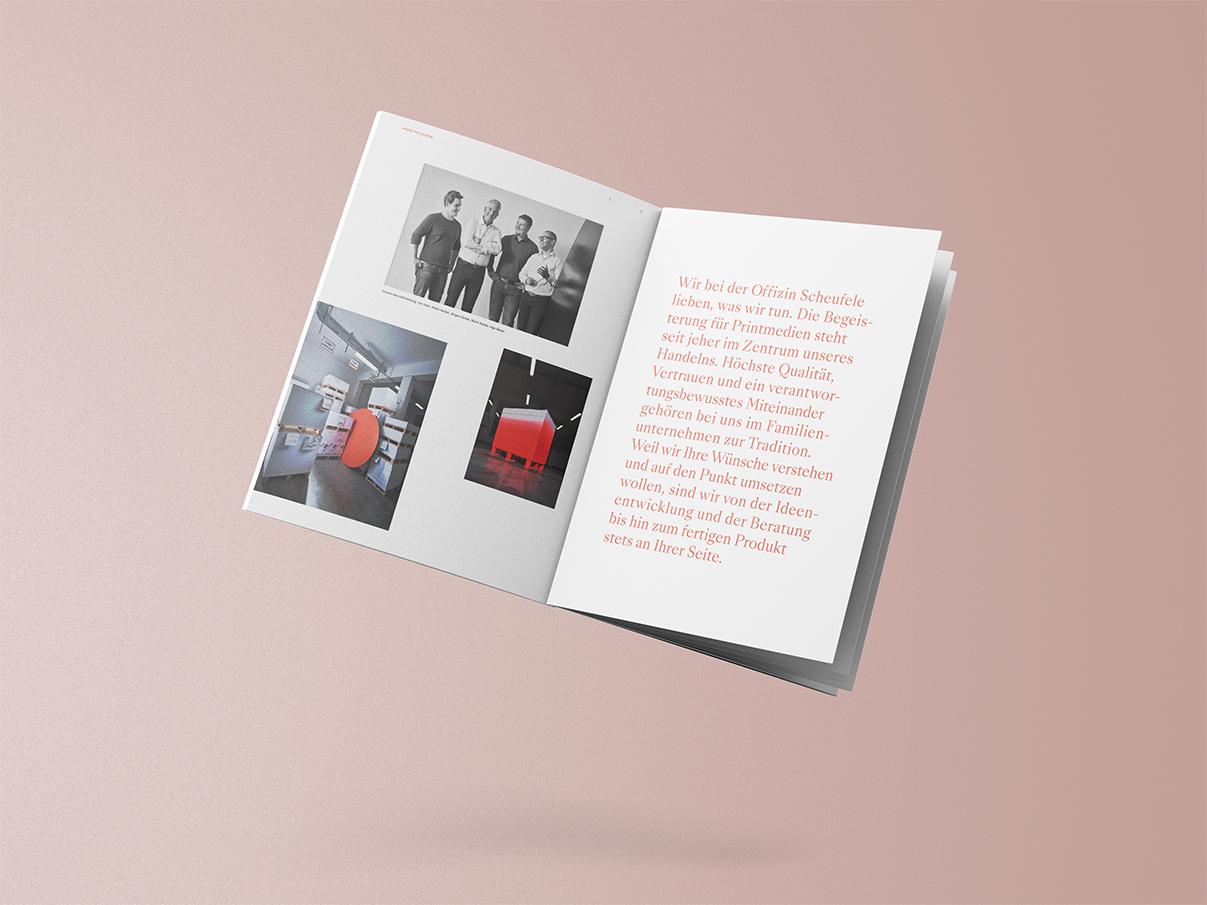 Offizin Scheufele, Stuttgart, Druckerei, Broschüre, Magazin