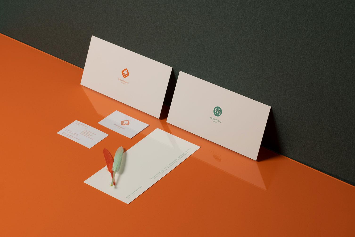 Hiersemann, Hauswedell, Verlag, Stuttgart, Redesign, Logo, Visitenkarte
