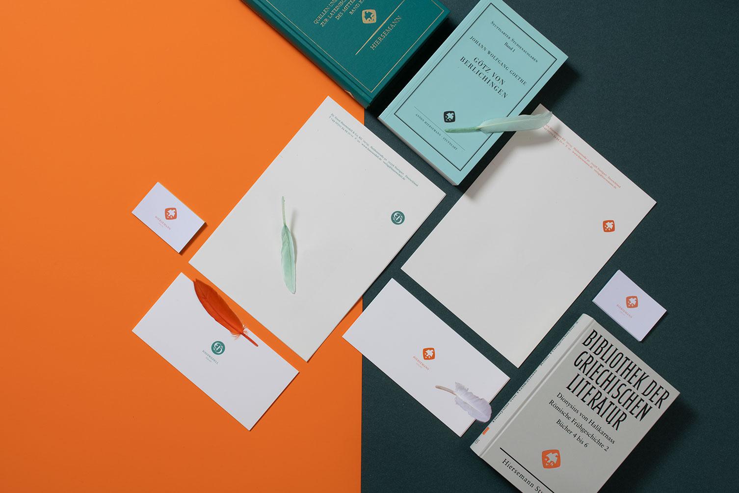 Hiersemann, Hauswedell, Verlag, Stuttgart, Redesign, Logo, Corporate Design