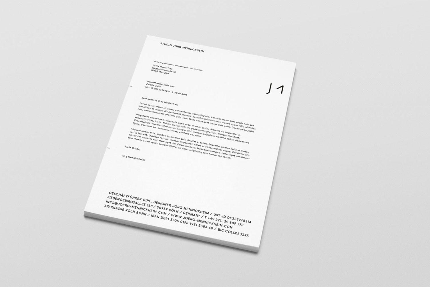Jörg Mennickheim, Produktdesign, Website, Visitenkarten, Logo, Briefbogen