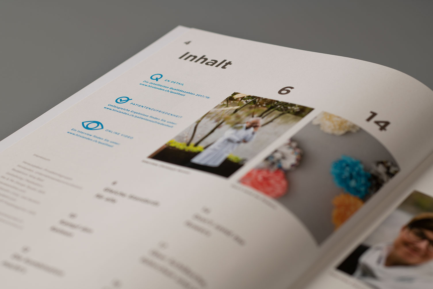 Magazin, Illustration, Editorial, Klinik, Informationsgrafik, Icons