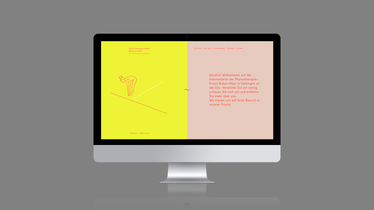 Corporate Design, Praxis, Physiotherapie, Website