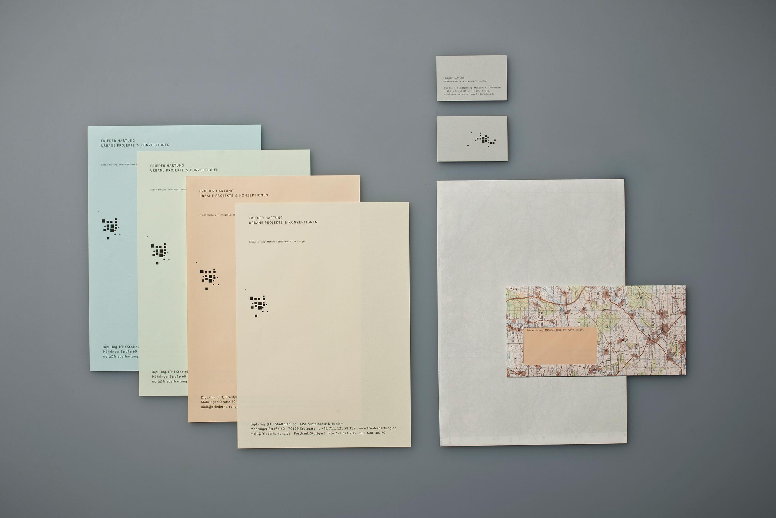 Corporate Design, Städteplaner, Visitenkarte, Briefpapier