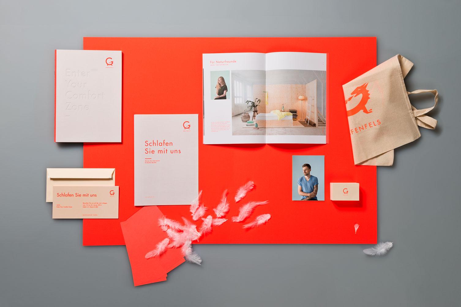 Matratzenhersteller, Corporate Identity, Corporate Design, Briefbogen, Broschüre, Visitenkarte, Tasche
