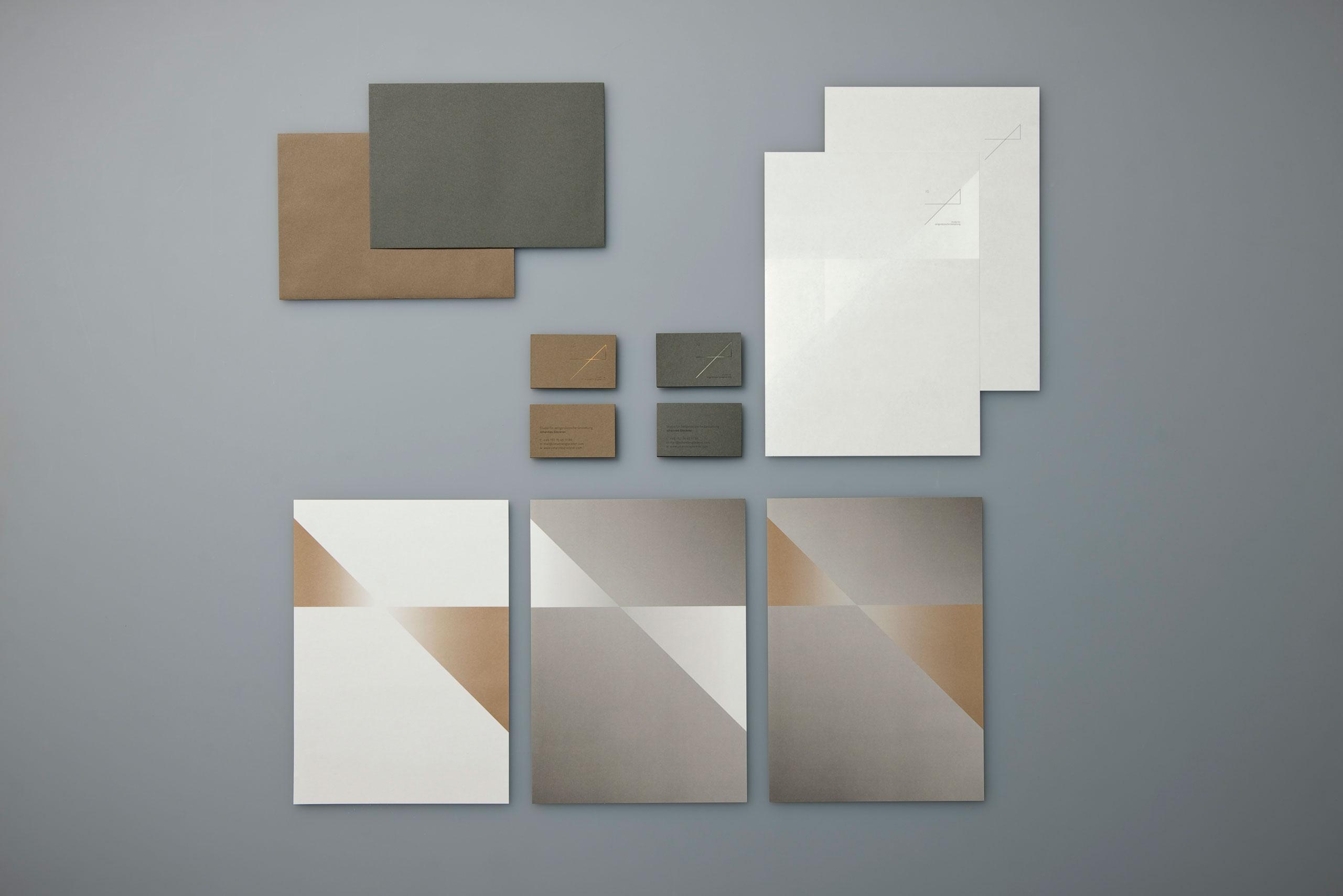 Visitenkarte, Briefbogen, Johannes Glockner, Schreiner, Industriedesigner, Corporate Design