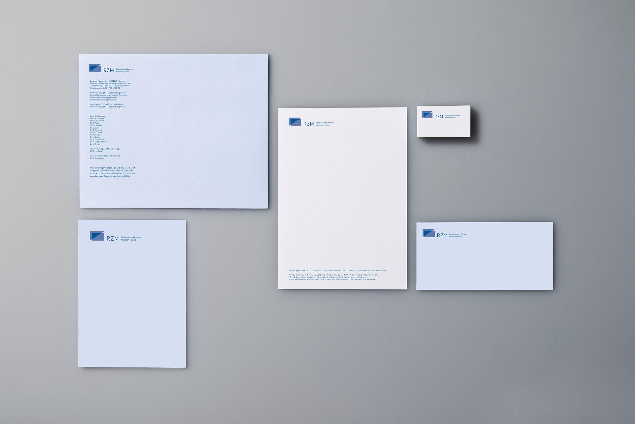 Radiologisches Zentrum München Pasing, Arzt, Corporate Design, Briefbogen, Visitenkarte