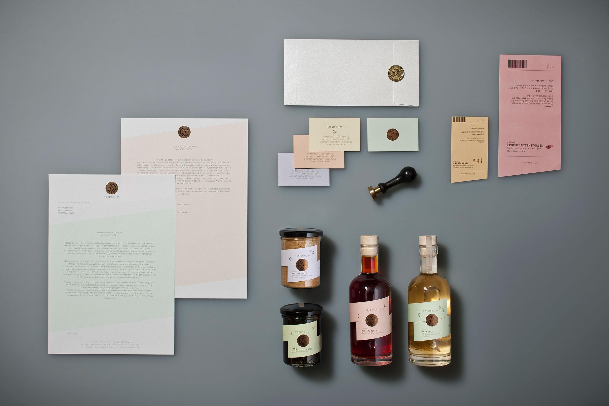 Speisekarten, Briefbogen, Visitenkarte, Verpackungsdesign, Verpackung, Siegel, Etikett, Alkohol, Sirup, Corprate Design