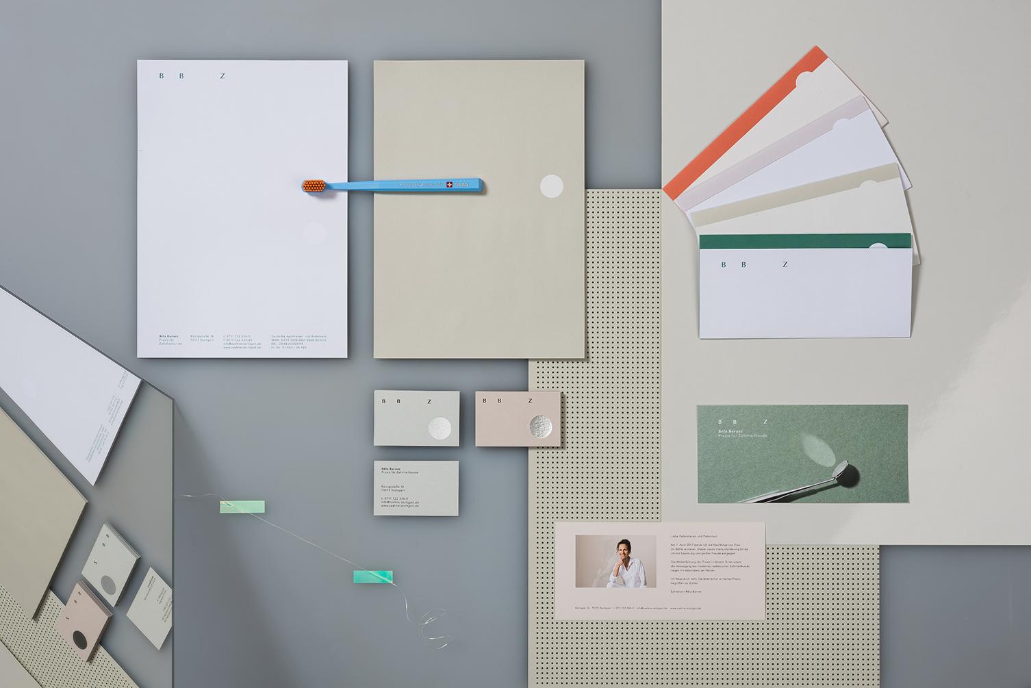Zahnarzt, Stuttgart, Corporate Design, Spiegel, Geschäftsausstattung
