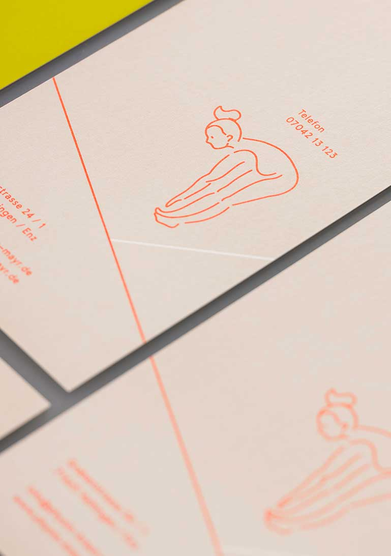 Corporate Design, Physiotherapie, Flyer, Figurine