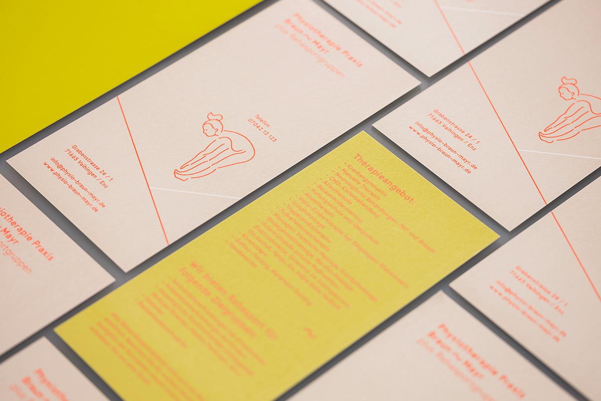 Corporate Design, Physiotherapie Praxis, Flyer, Figurine