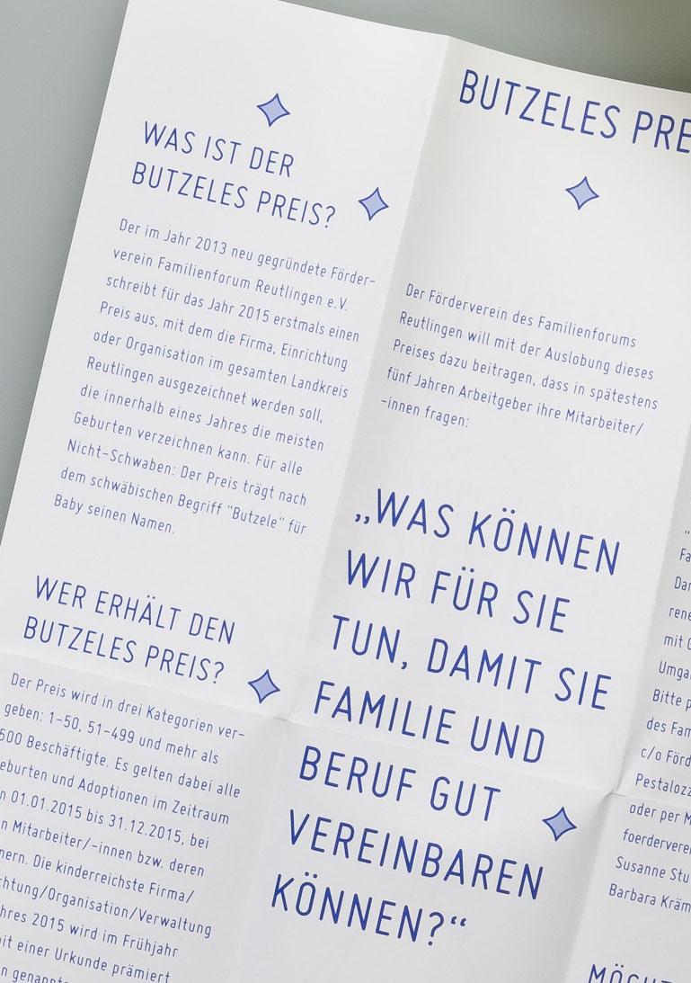 kinderreichster Arbeitgeber, Reutlingen, Flyer