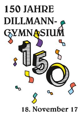 Corporate Design Schule, Fahnen, Dillmann, Barschild, Sektbar, Sponsorenwand, Plakate, Luftballons, Getränkekarte, Einladung, Save the Date Karte