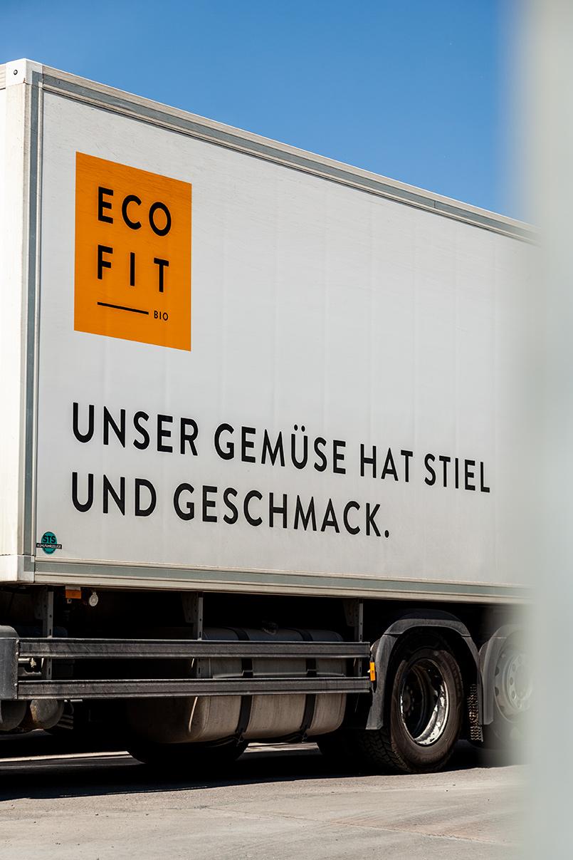Lastwagenbeschriftung, Coporate Design Eco Fit
