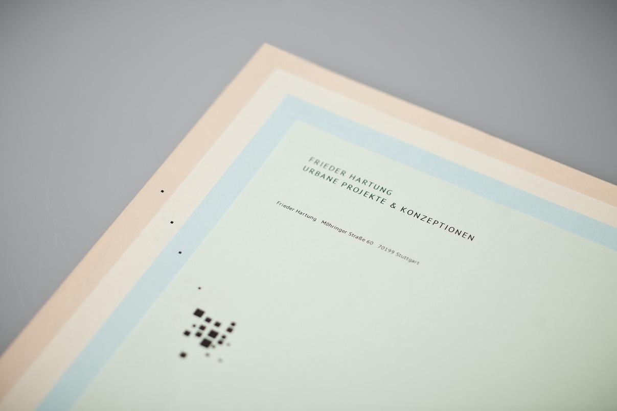 Corporate Design, Briefbogen, urbane Stadtplanung