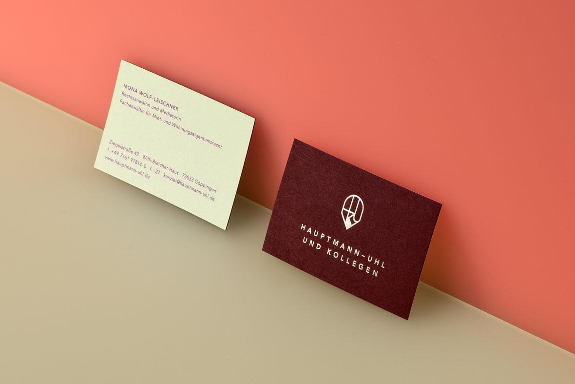 Visitenkarten, Rechtsanwalt, Kanzlei