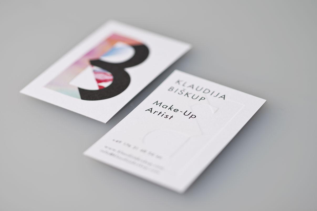 Visitenkarte, Haare, Make-up
