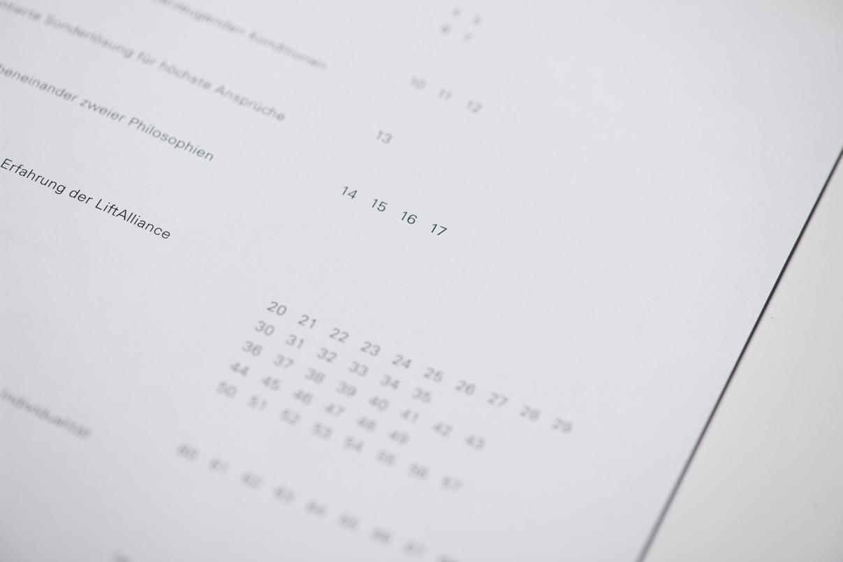 Aufzugshersteller, Infografik, Pagina, Seitenzahlen