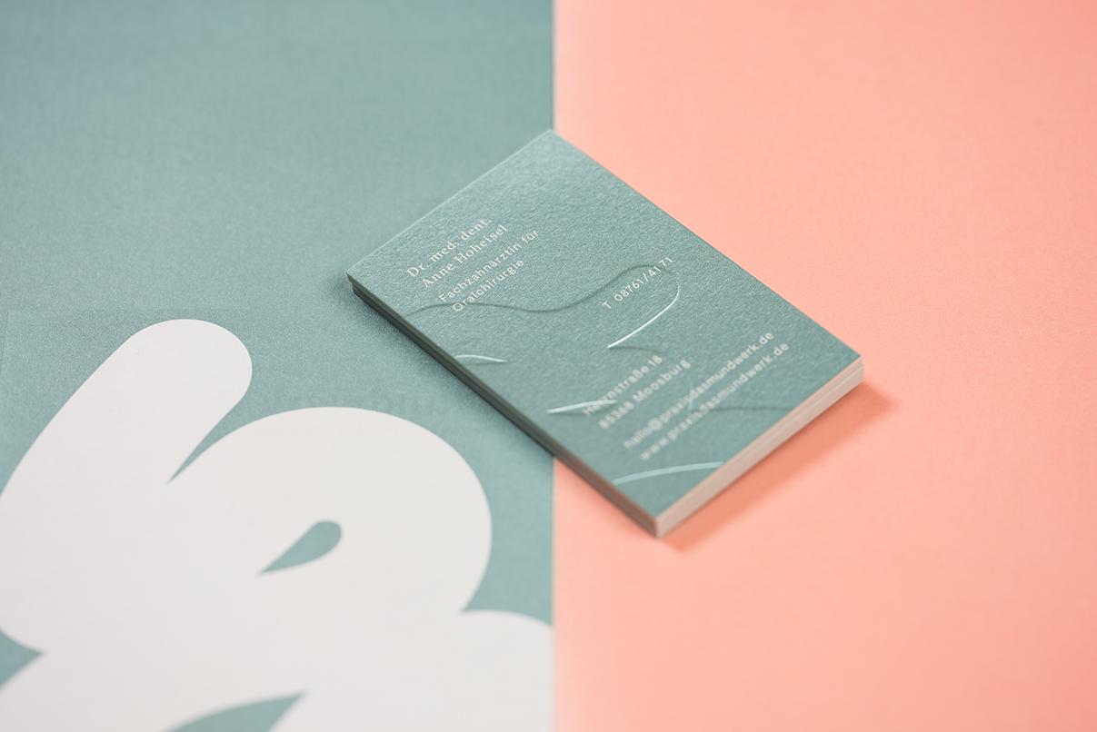 Zahnarzt, Visitenkarte, Corporate Design, das Mundwerk