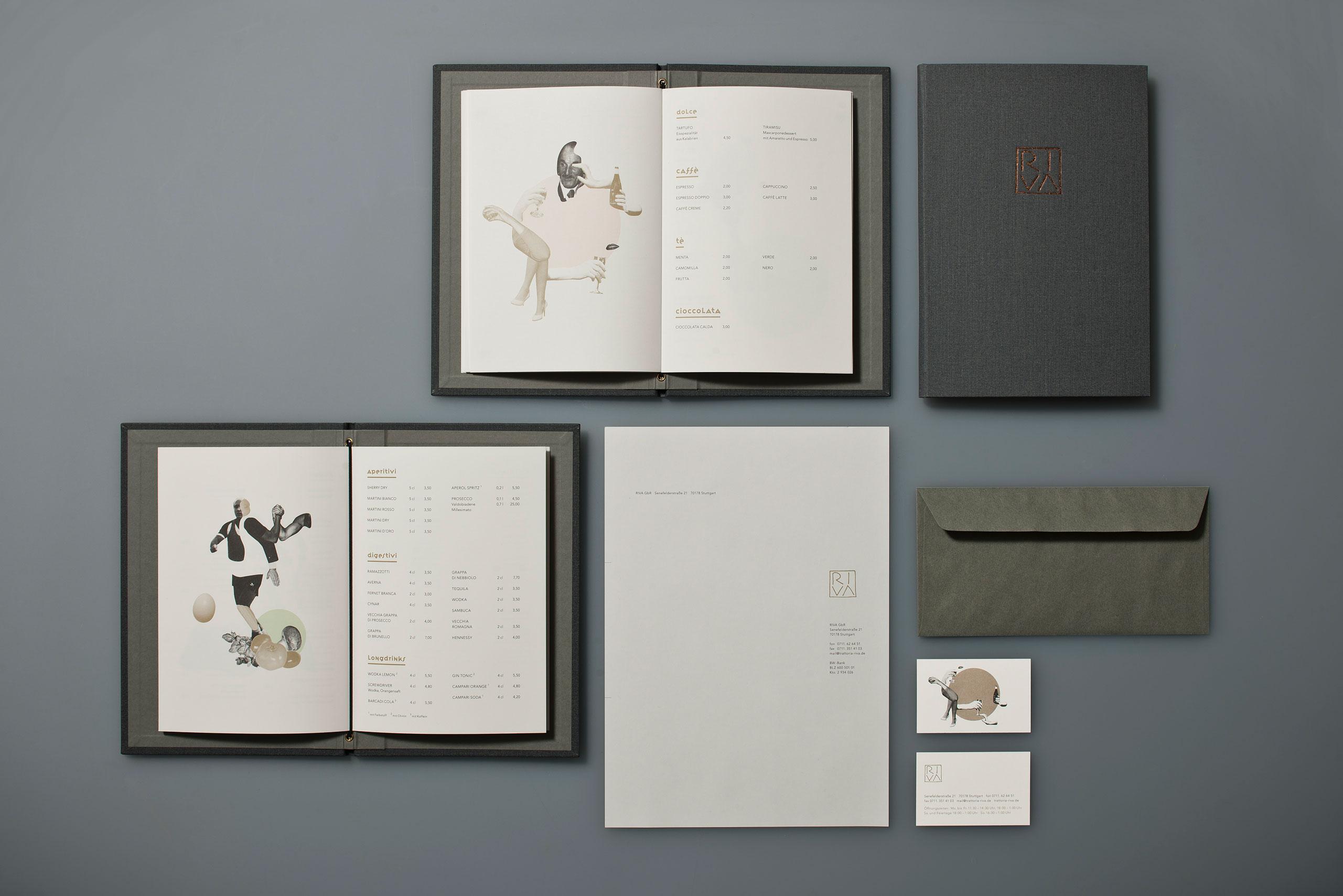 Speisekarten, Briefbogen, Visitenkarte, Restaurant, Corprate Design