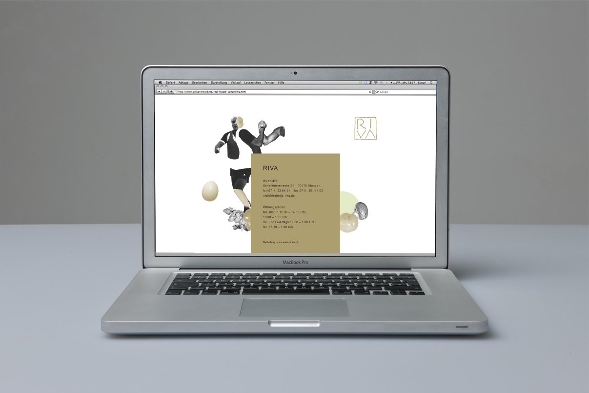 Website, Illustration, italienisches Restaurant, Stuttgart