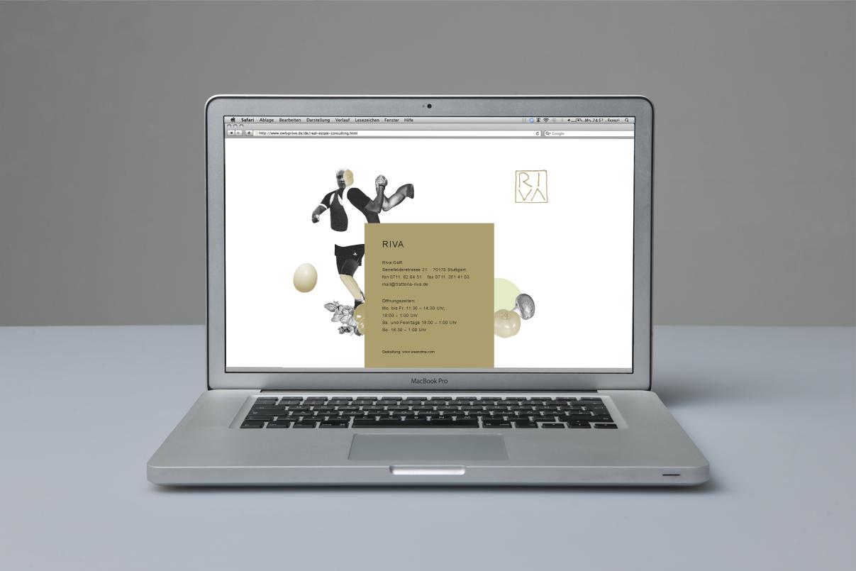 Website, Illustration, italienisches Restaurant, Stuttgart