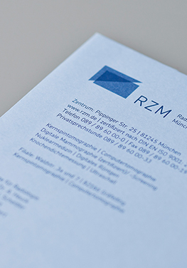 radiologisches Zentrum, München Pasing, Logo, Signet, Briefumschlag
