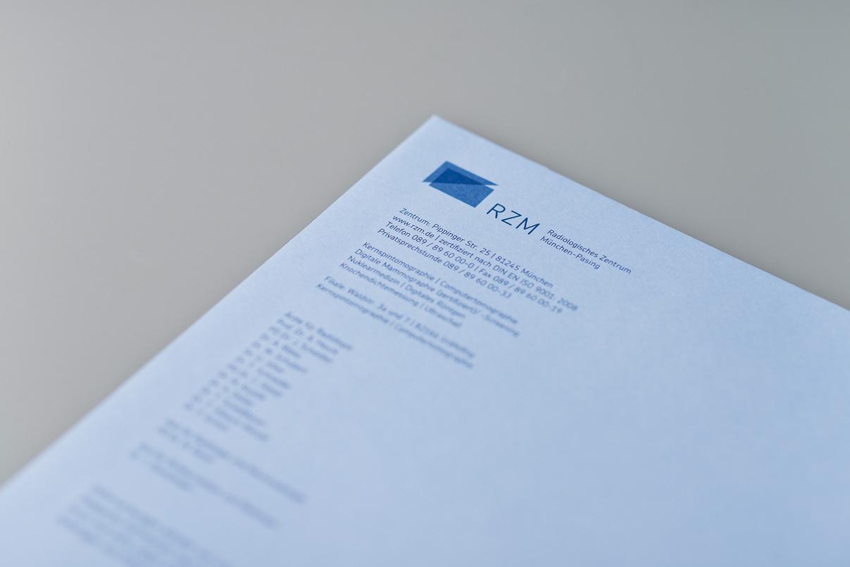 Briefumschlag, radiologisches Zentrum München Pasing