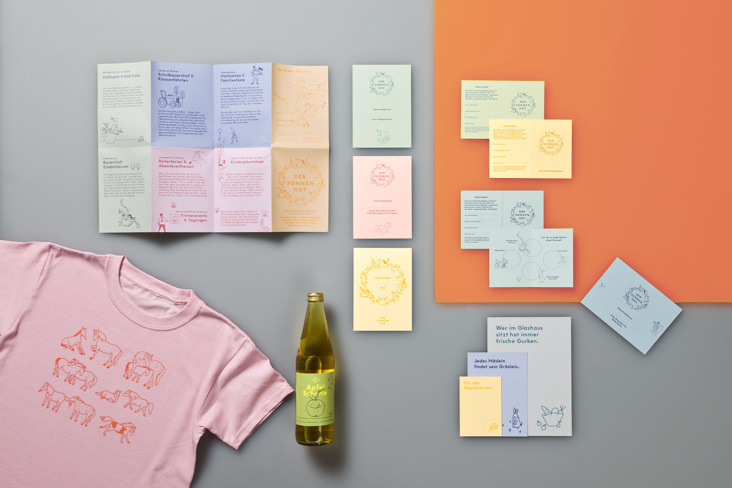 Corporate Design, Flyer, Verpackungsdesign, T-shirt, Postkarten
