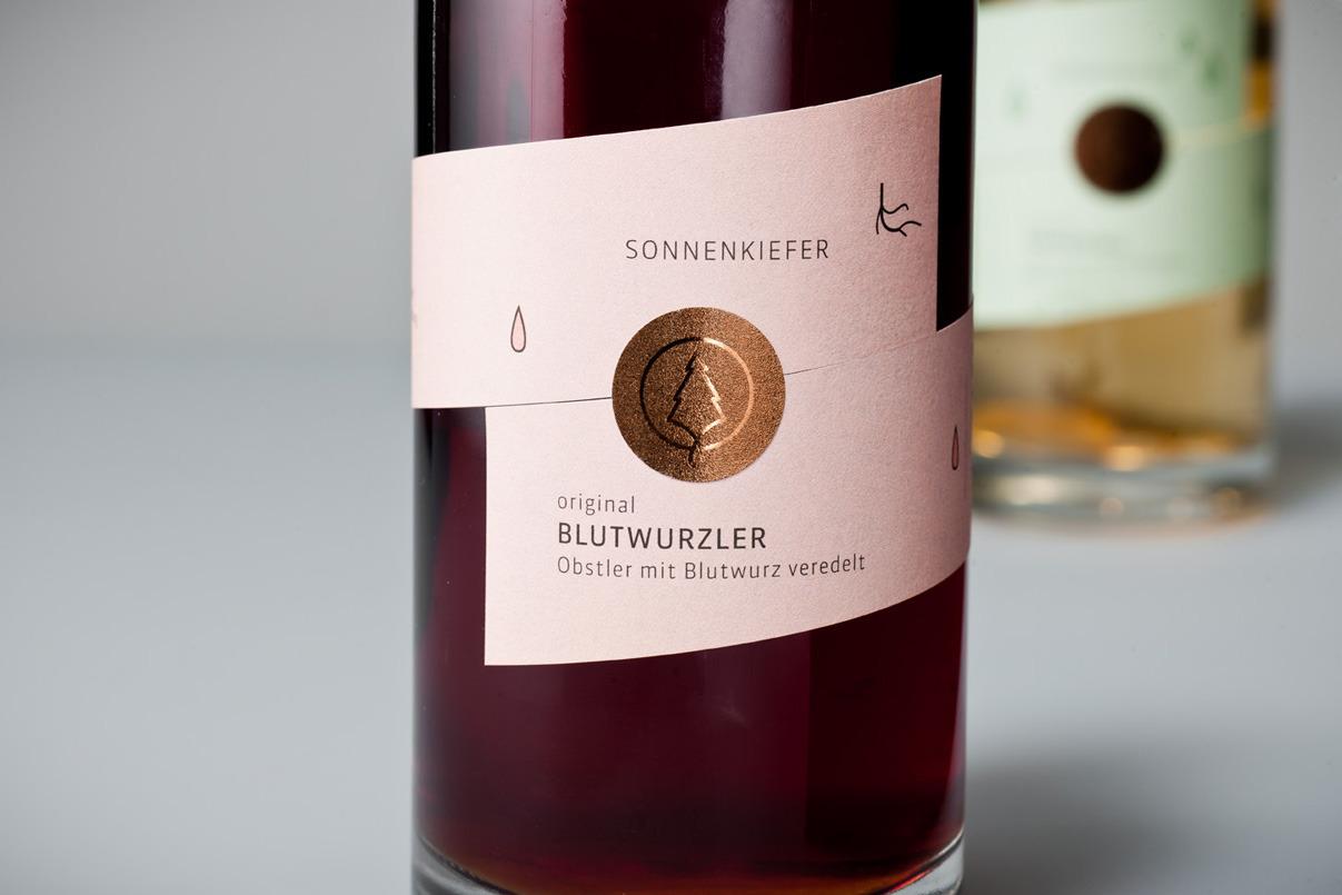 Verpackungsdesign, Alkohol, Etikett