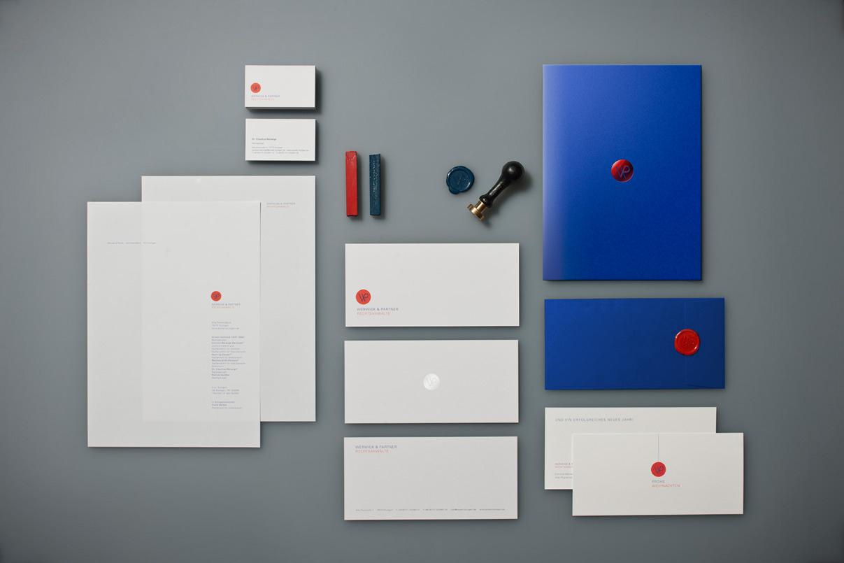 Corporate Identity, Compliment Slip, Briefbogen, Visitenkarten, Siegel, Weihnachtskarte, Rechtsanwalt, Stuttgart