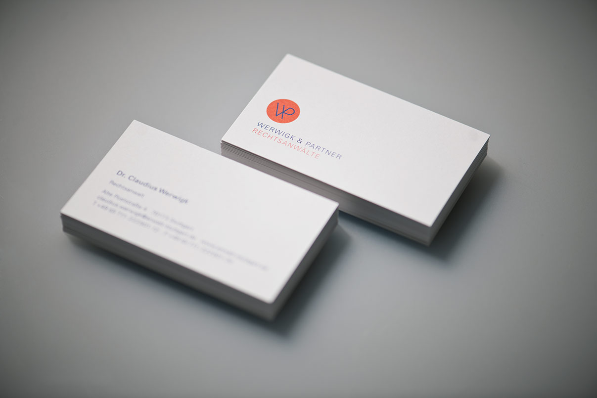 Visitenkarten Geschäftsausstattung, Rechtsanwalt, Kanzlei, Corporate Design