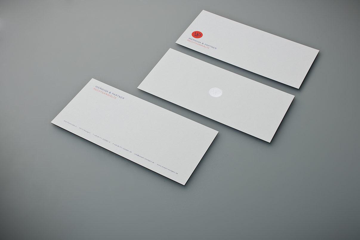 Compliment Slip, Geschäftsausstattung, Rechtsanwalt, Kanzlei, Corporate Design