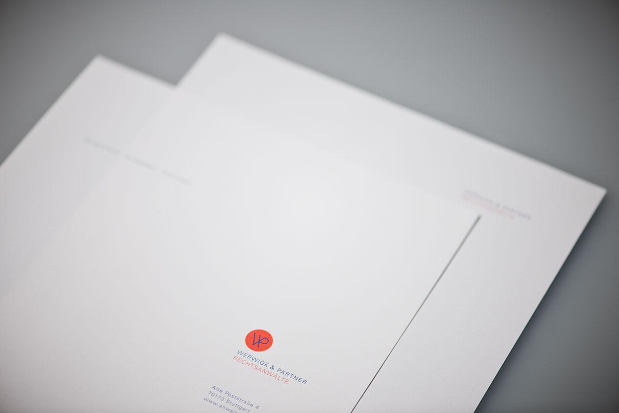 Brifpapier, Geschäftsausstattung, Rechtsanwalt, Kanzlei, Corporate Design