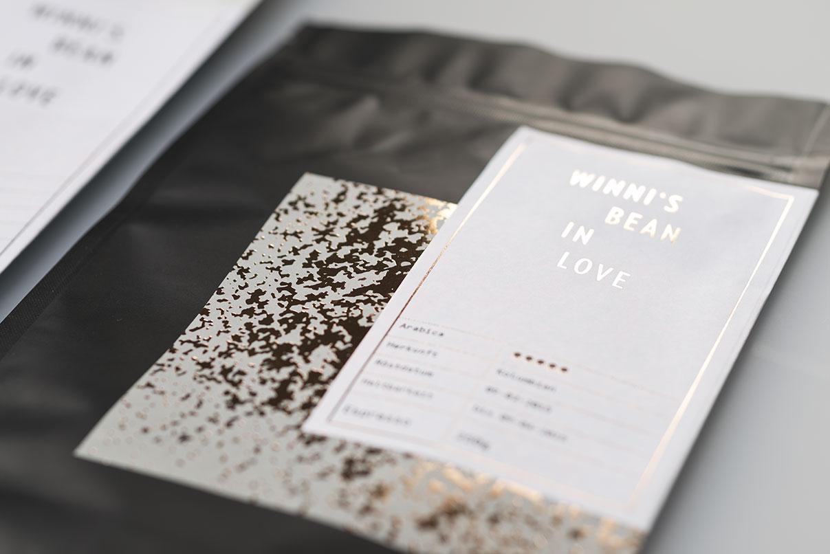 Verpackungsdesign, Kaffee, Detail