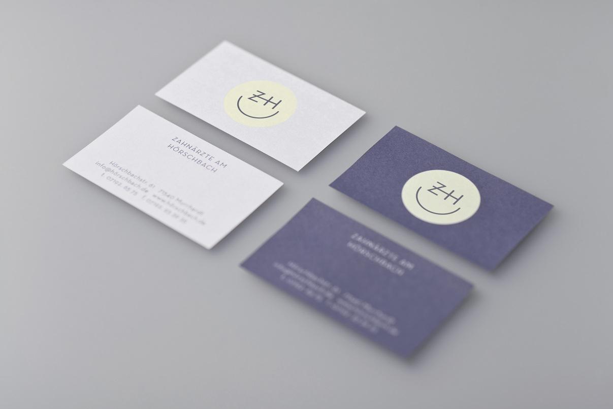 Visitenkarten Zahnarzt, Corporate Design
