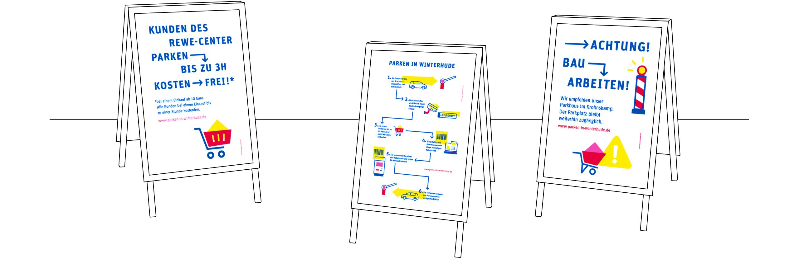 DPG, deutsche Parken Gesellschaft, Aufsteller, Plakat