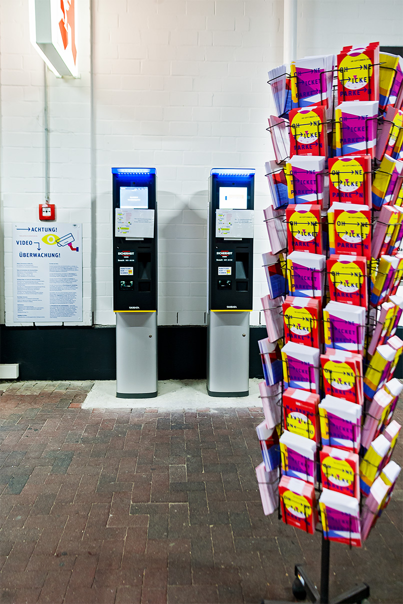 DPG, deutsche Parken Gesellschaft, Flyer, Parkautomat, Flyer, Design
