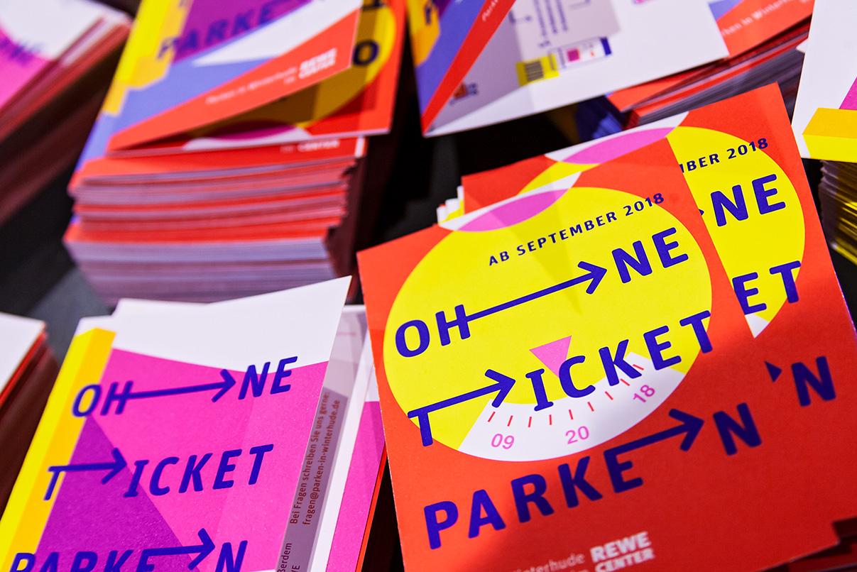 DPG, deutsche Parken Gesellschaft, Flyer, Parktickets, Design